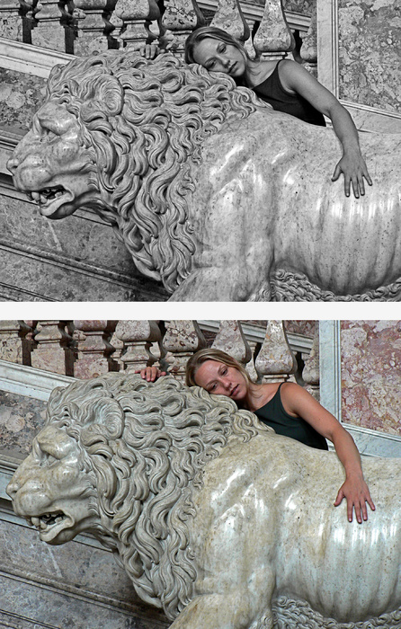 Anna and a Lion