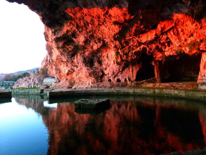Grotto of Tiberius January Sunset
