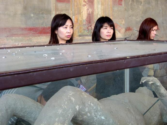 Japanese Tourists at Pompei