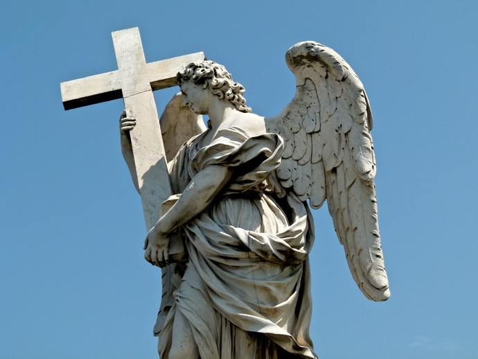 Angel with the Cross (ercole Ferrata) 3