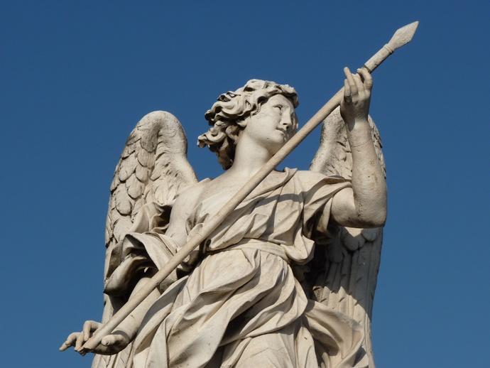 Angel with the Lance (domenico Guidi, Inscription Vulnerasti Cor Meum ) 6