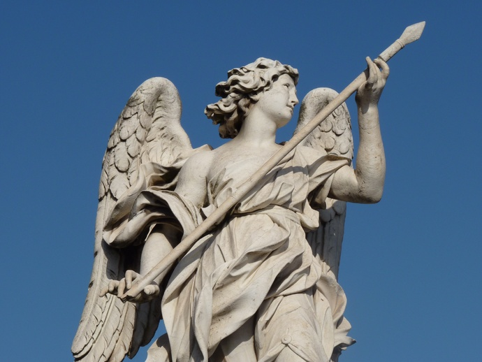 Angel with the Lance (domenico Guidi, Inscription Vulnerasti Cor Meum ) 7