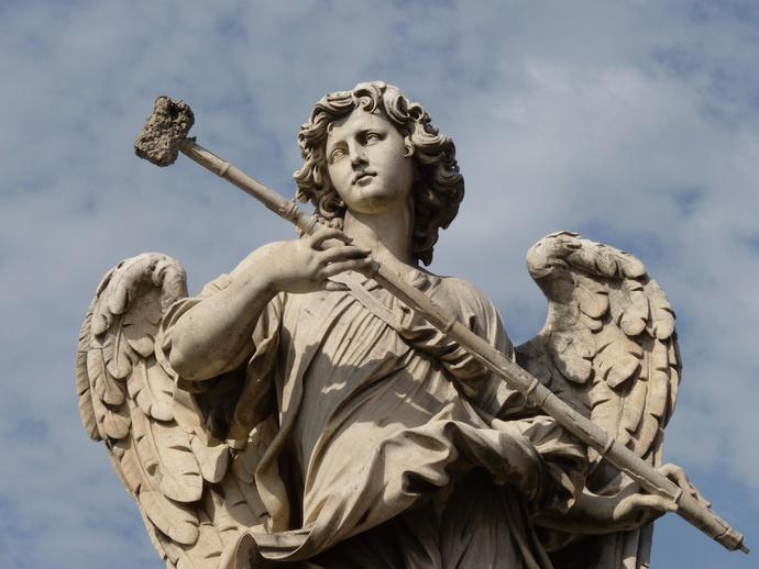 Angel with the Sponge (with Vinegar) (antonio Giorgetti, Inscription Potaverunt me Aceto ) 4