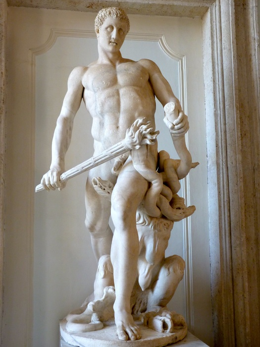 Hercules Slaying Hydra by Lysippos (roman Copy of 4th Bc) 02