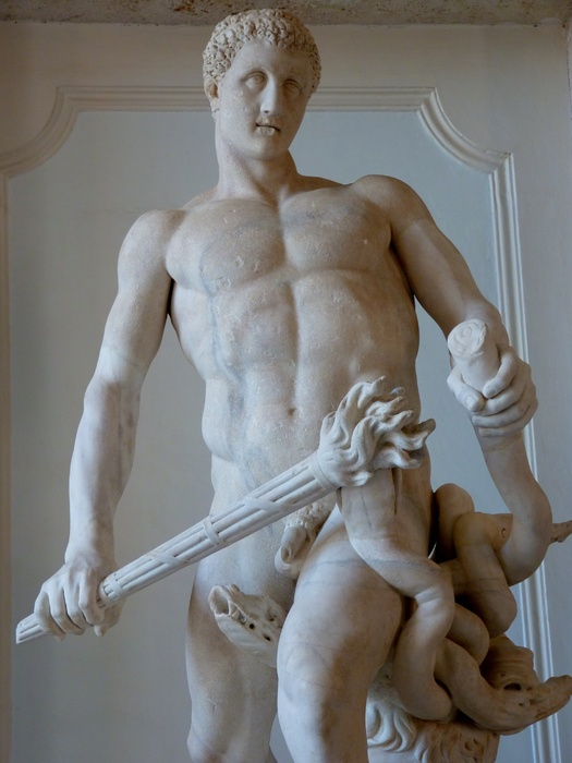 Hercules Slaying Hydra by Lysippos (roman Copy of 4th Bc) 03