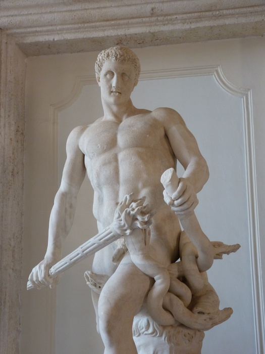 Hercules Slaying Hydra by Lysippos (roman Copy of 4th Bc) 07