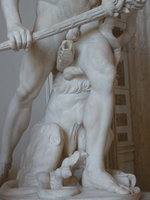 Hercules Slaying Hydra by Lysippos (roman Copy of 4th Bc) 09