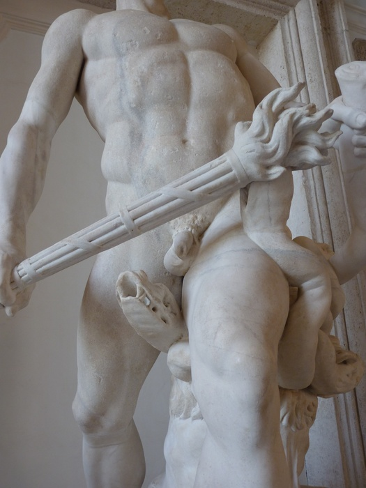 Hercules Slaying Hydra by Lysippos (roman Copy of 4th Bc) 11