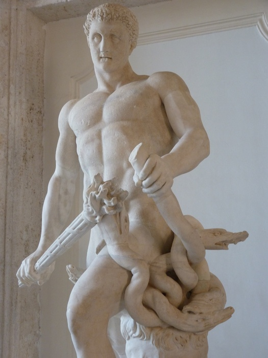 Hercules Slaying Hydra by Lysippos (roman Copy of 4th Bc) 16