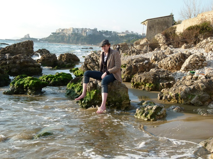 Pieter on Sperlonga Beach