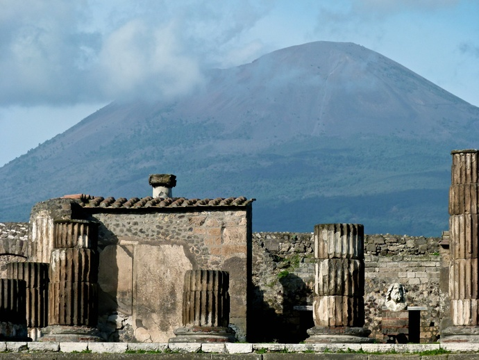 Vesuvius View from Pompeii 2