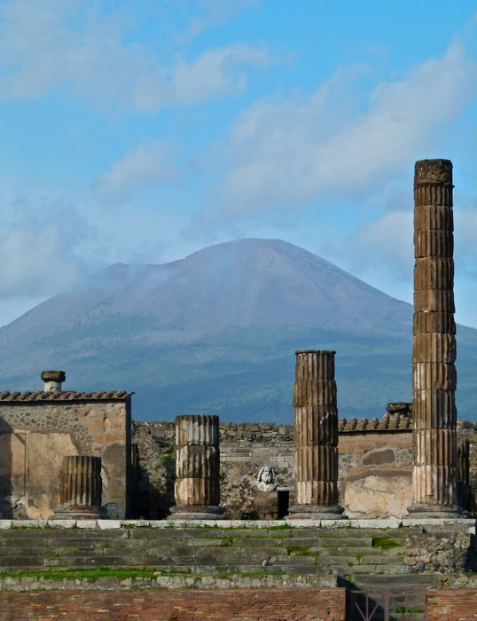 Vesuvius View from Pompeii