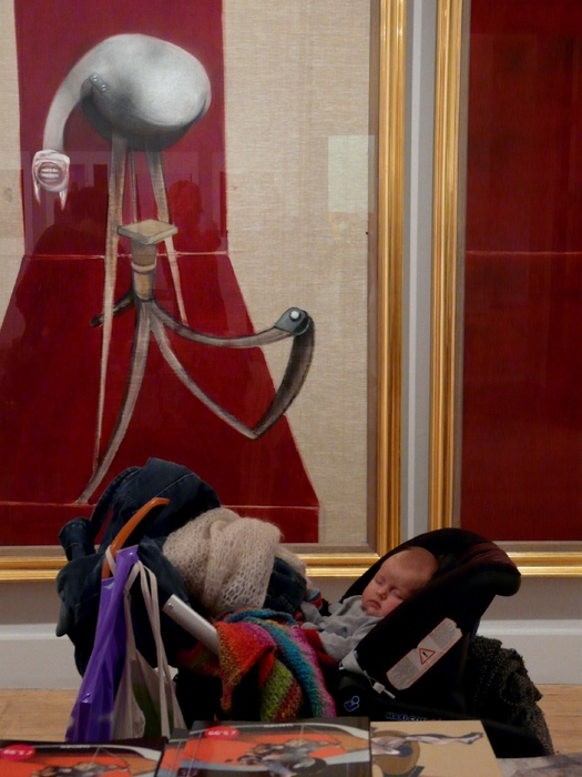 Baby and Bacon Tate Gallery London2