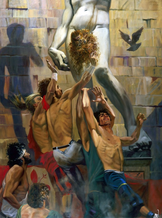 Durand in the Shadow of David 1989 (oil on Linen) 5