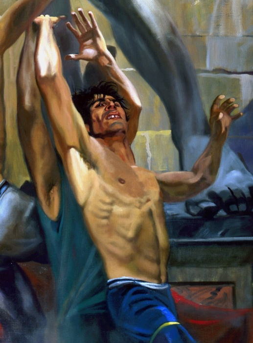 Durand in the Shadow of David 1989 (oil on Linen)
