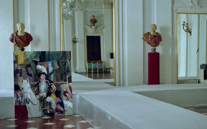Durand\\\'s Portrait of Pucci in Progresspalazzo Pucci