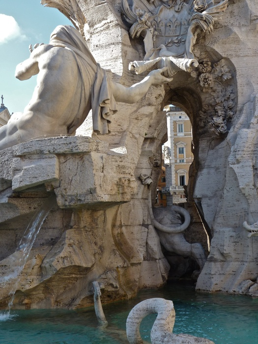 Fountain of the Four Rivers Bernini 2