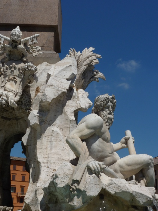 Fountain of the Four Rivers Bernini 7