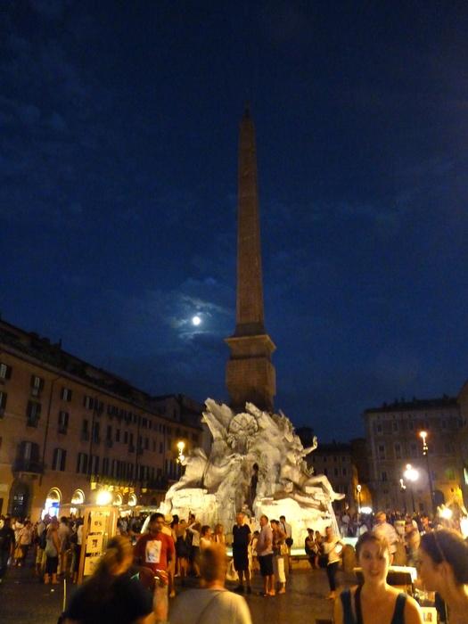 Fountain of the Four Rivers Bernini Notte 4