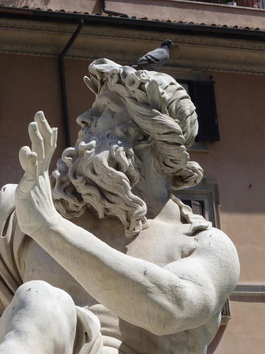 Fountain of the Four Rivers Danube Bernini 3