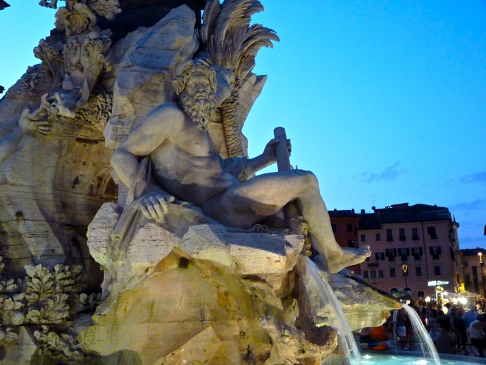 Fountain of the Four Rivers Ganges Bernini 2