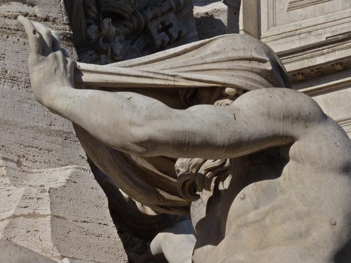 Fountain of the Four Rivers the Nile Bernini 2
