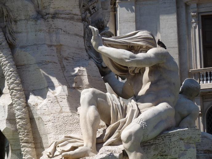 Fountain of the Four Rivers the Nile Bernini 3
