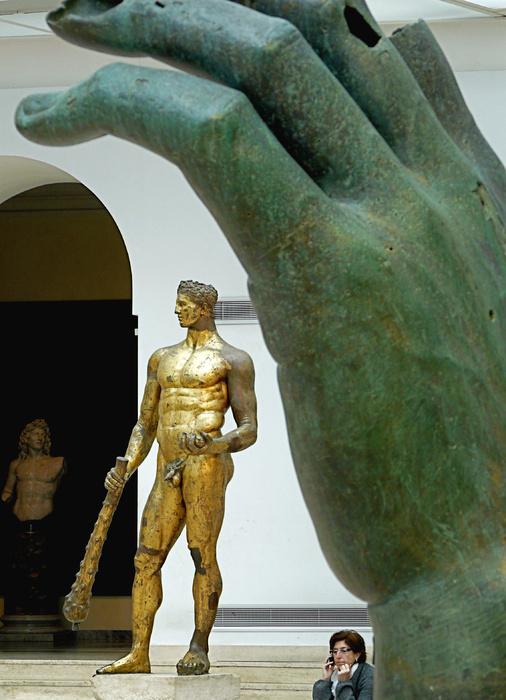 Hercules Gilded Bronze 4