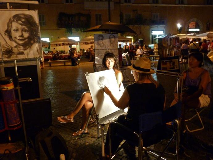 Posing Piazza Navona