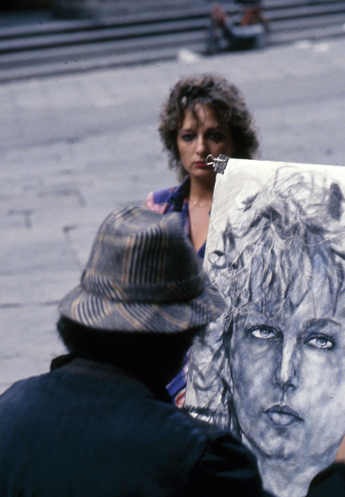 Street Portraitist in Florence