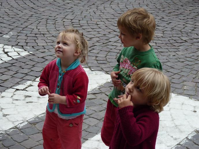 Three Kids Watching a Pirate st Malo