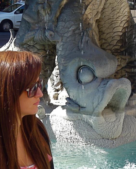 Triton Fountain by Gian Lorenzo Bernini