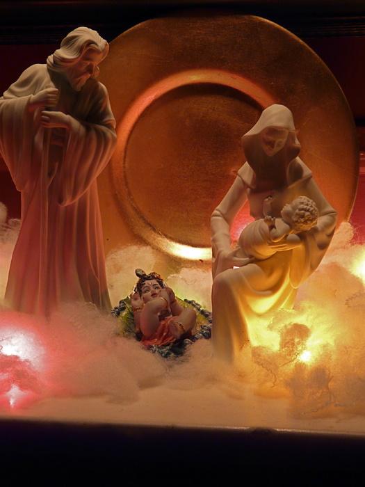 Jesus & Krishna with Mary & Joseph