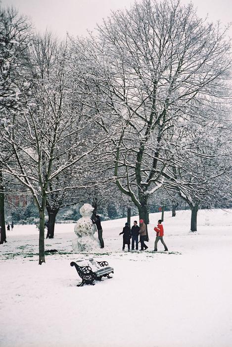 Kensington Gardens & with Snowman