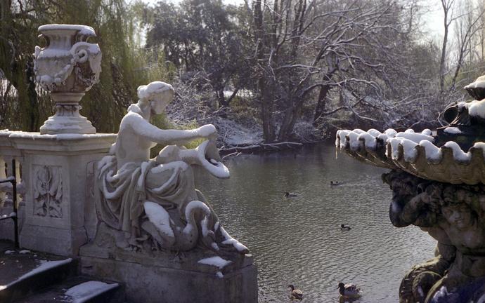 Spring Snow Italian Gardens 2