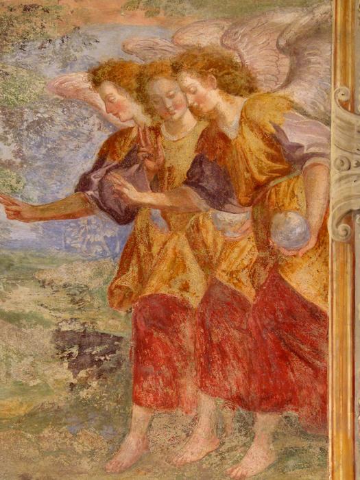 Chiostro di Santa Chiara Abraham 3angels 3