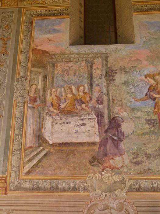 Chiostro di Santa Chiara Abraham 3angels