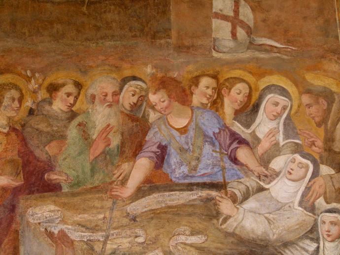 Chiostro di Santa Chiara Death of S