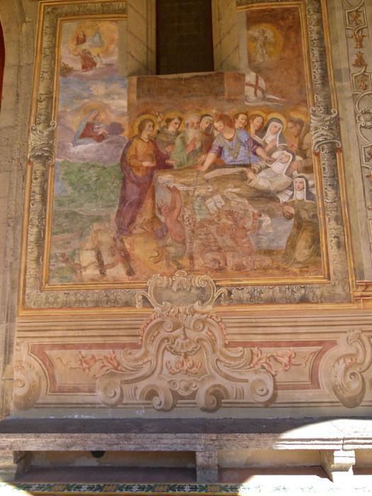 Chiostro di Santa Chiara Death of Santa Chiaria