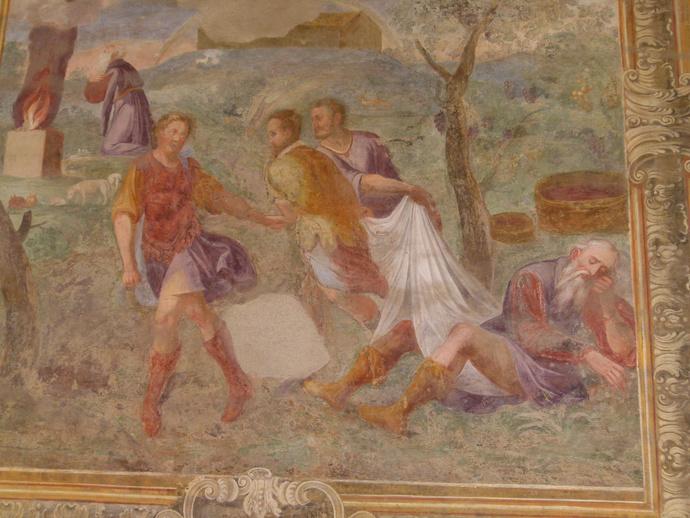 Chiostro di Santa Chiara Drunkenness of Noah 2