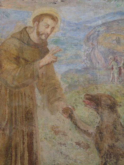 Chiostro di Santa Chiara San Francesco e Lupo di Gubbio 2