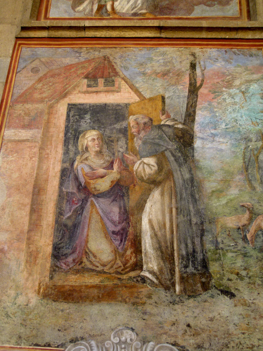 Chiostro di Santa Chiara Fresco 17