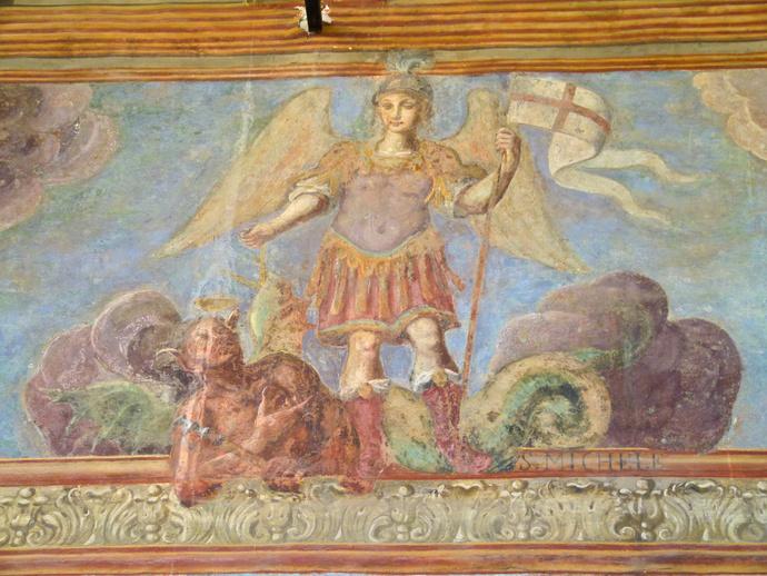 Chiostro di Santa Chiara Fresco 26