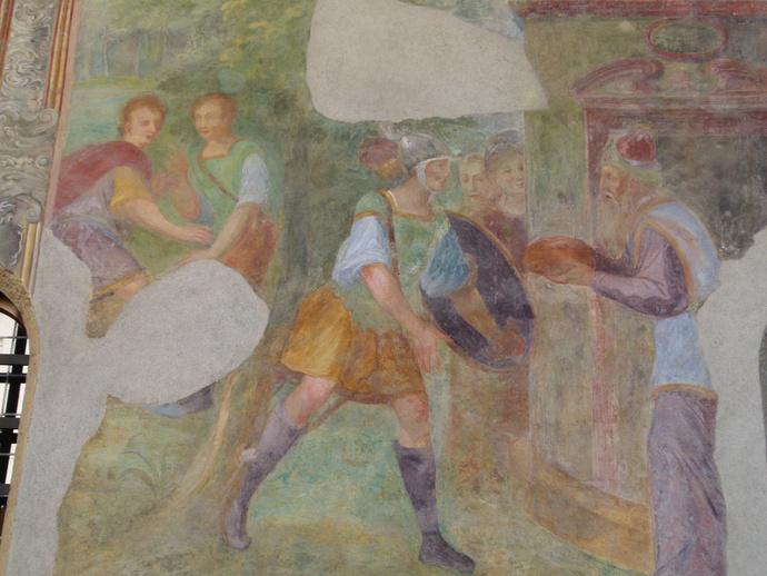 Chiostro di Santa Chiara Fresco 3