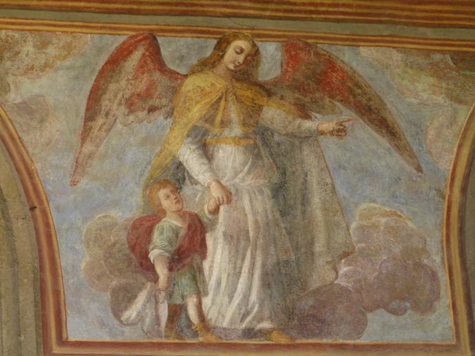 Chiostro di Santa Chiara Fresco 39
