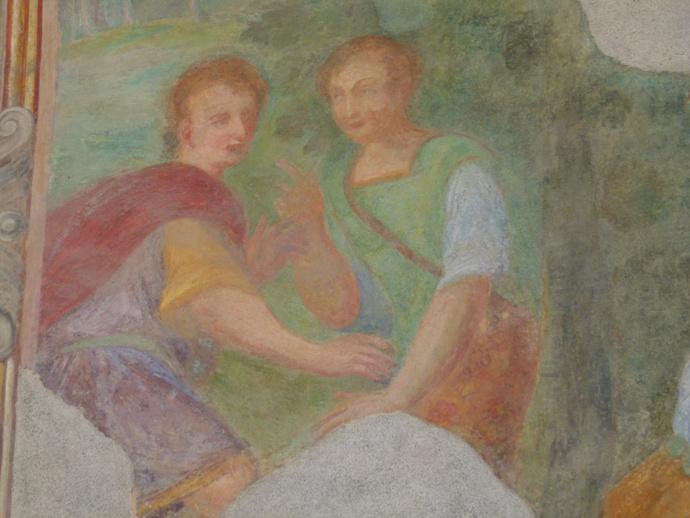 Chiostro di Santa Chiara Fresco 4