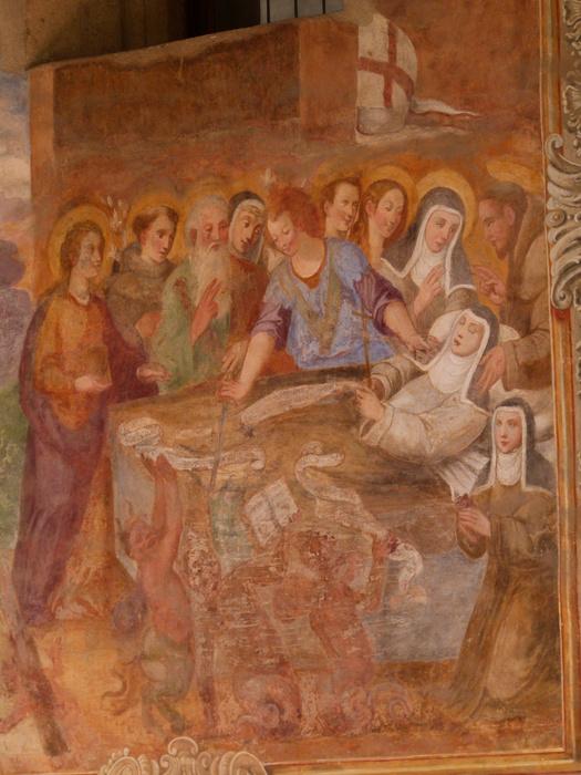 Chiostro di Santa Chiara Fresco 41