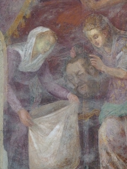 Chiostro di Santa Chiara Fresco 8