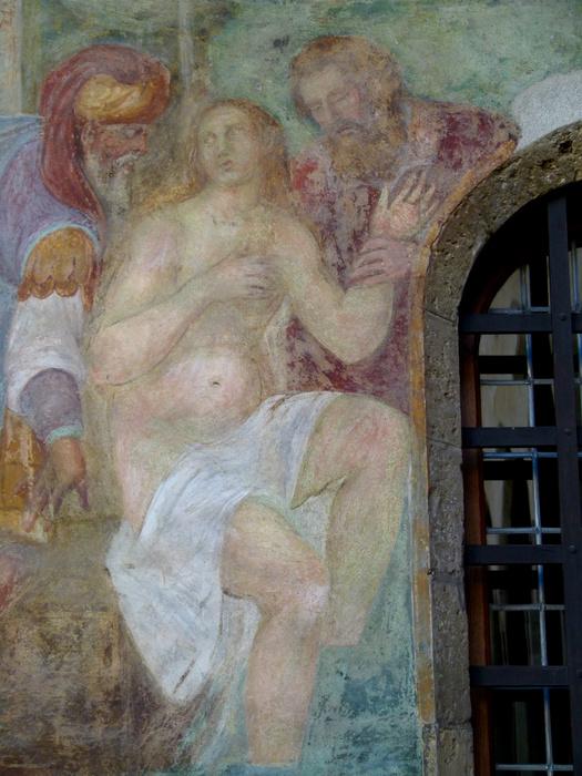 Chiostro di Santa Chiara Fresco 9