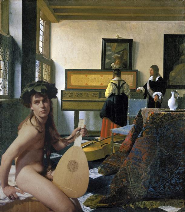 Vermeer Music Lesson Lutist